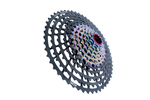 KCNC Mountain Bicycle Cycling Cassette 12 Speed Bike 9-52T Wide Teeth for Sram Eagle XX1/X01/GX Rear Derailleur use-Ultra Light ONLY 327g Black