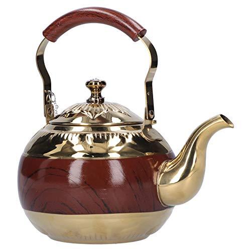Uxsiya Theeketel, koffieketel, eenvoudig te bedienen, robuust en duurzaam roestvrij staal, corrosiebestendig, voor eigenaren van kelders