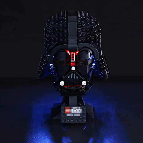 XJJY Kit de iluminación LED para Lego 75304 Star Wars Darth Vader Casco Conjunto DE CONFIGURACIÓN, Conjunto DE LUZ Compatible con Lego 75304 (NO Incluye EL Modelo)