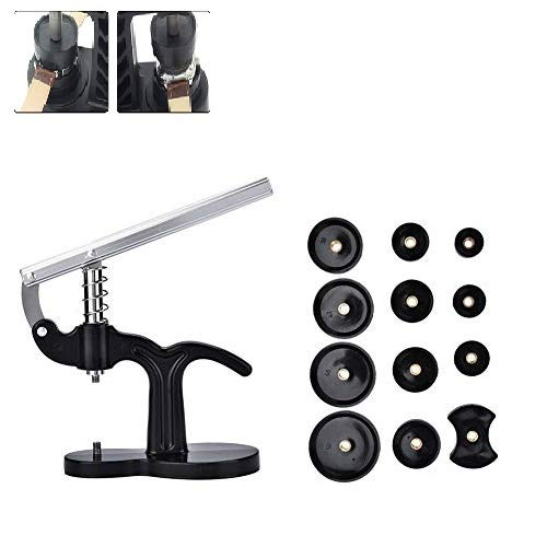 Uhr Presse Maschine mit 12 Formen, Uhrenwerkzeug Zum Drücken, Professionelle Reparatur Tool Kits Ersatzbatterie Uhr Repair Tool