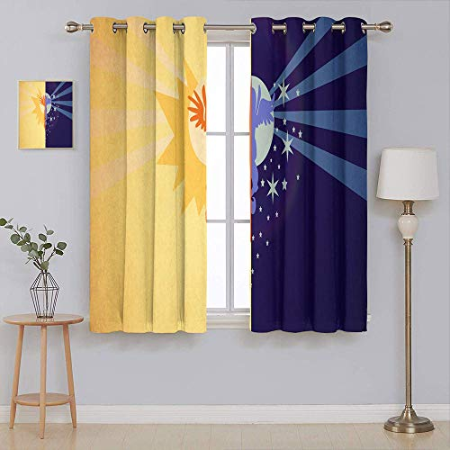 my little pony Thermal Insulated Darkening Curtains Home Decor Window Curtains Thermal Insulated Drapes for Kitchen/Bedroom 63x63 Inch