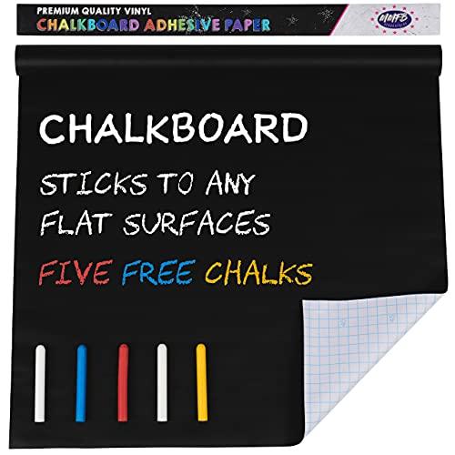 MMFB Arts & Crafts Chalkboard Wallpaper - 7.5 Foot, Black, Vinyl...