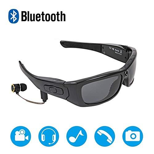 YWT Bluetooth Gafas de Sol Cámara Full HD 1080P Grabadora de Video Gran Angular con Lentes de protección UV, Monta, Pesca, Motocicletas y Deportes al Aire Libre