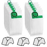 Sunnila 10 Sacchetti + 3 Filtri Compatibili con aspirapolvere Vorwerk Folletto VK140 VK150 Sacchi - Verde