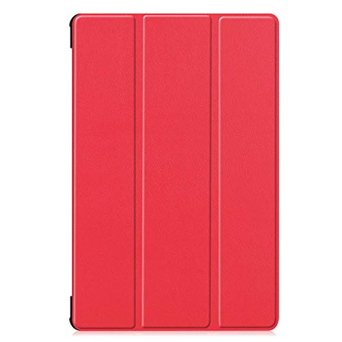 Trifold bracket flat cover, suitable for Samsung Tab S6 Lite P610/P615 flip cover sleep-red
