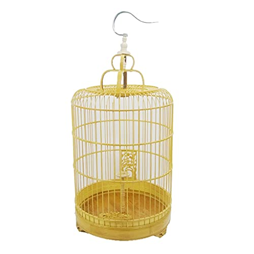 Jaula para Pájaros Jaula para Pájaros De Bambú Skylark Jaula para Pájaros De Bambú Pulida Y Tallada A Mano Jaula para Pájaros De Bambú Jaula para Pájaros Decorativa Colgar A Mano Es Muy Conveniente