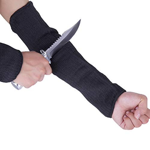 Buwico Black Arm Sleeve Protector Anti Cut//Slash//Static Resistant Armband Stainless Steel Wire Working Safety
