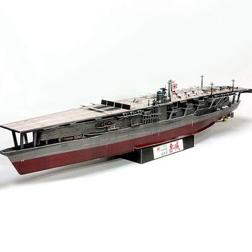 ELVVT 1: 350 japoneses Akagi portaaviones modelo del buque de guerra en 3D de alta dificultad hecho a mano Modelo de Origami DIY Puzzle Los aficionados asamblea del juguete adulto del niño Militares r
