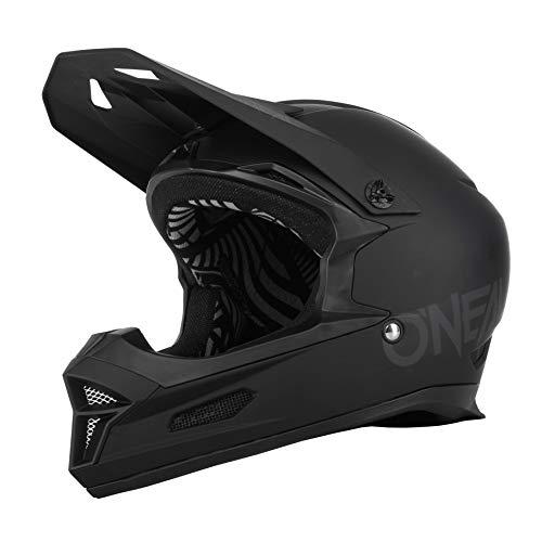 O\'NEAL | Mountainbike-Helm | MTB Downhill | Nach Sicherheitsnorm EN1078, Ventilationsöffnungen für Luftstrom & Kühlung, ABS Außenschale | Fury Helmet SOLID | Erwachsene | Schwarz | Größe L
