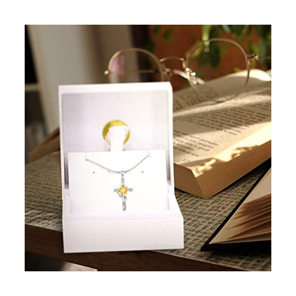 SNZM Sunflower Necklace for Women Girlfriend, You are My Sunshine Jewelry Gifts for Christmas Birthday