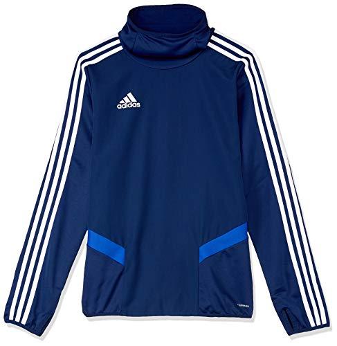 adidas Kinder TIRO19 WRM TOPY Sweatshirt, Dark Blue/Bold Blue/White, 1314