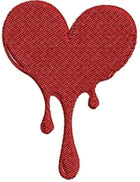 Iron on New products, world's highest quality popular! Sew On Patch Sacramento Mall Applique and Red Breaking Heart Dri Melting