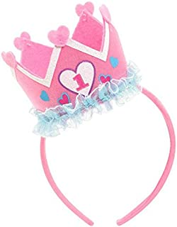 Girl's 1st Birthday Felt Novelty Headband