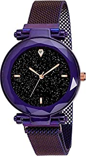 Great work Hours 3,6,9 Represents Line and 12 Represent Diamond Blue 21st Century Magnet Analog Watch for Girls and Women