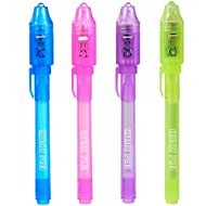 KERRT Invisible Pen with UV Light Secret Message Pens(Pack of 4)
