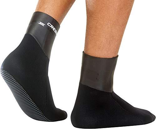 Cressi Sarago Socks - Escarpines de Buceo y Esnórquel de Neopreno Ultra Stretch,disponibles en 3 o 5 mm, Unisex para Adultos