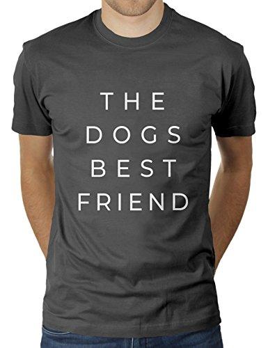 The Dogs Best Friend - Herren T-Shirt von KaterLikoli, Gr. M, Anthrazit