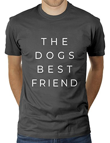 The Dogs Best Friend - Herren T-Shirt von KaterLikoli, Gr. M, Anthrazit