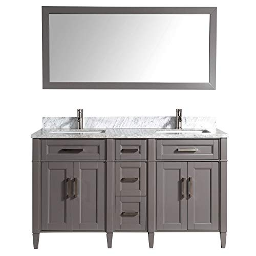 Vanity Art 60 Inch Double Sink Bathroom Vanity Set