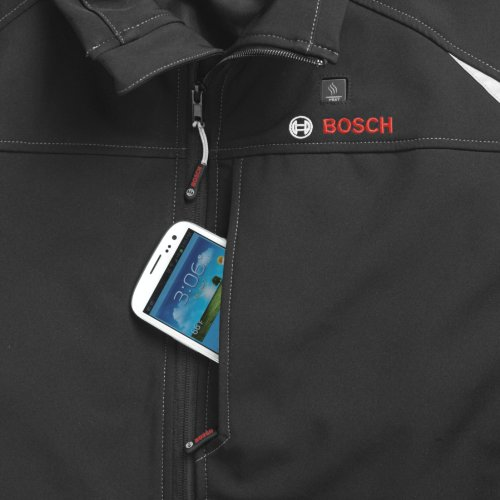Bosch Women's 12-Volt Max Lithium-Ion Soft Shell Heated Jacket Kit with 2.0Ah Battery, Charger and Holster PSJ120M-102W