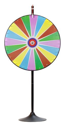 MIDWAY MONSTERS 36' Dry Erase Color Prize Wheel with Extension Base and Extension Pole