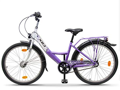 XB3 24 Zoll Damen-Mädchen-Kinder-Jugend-Fahrrad,...