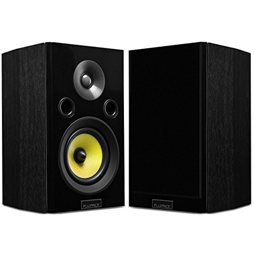 Fluance Signature HiFi 2-Way Bookshelf Surround Sound Speakers for Home Theater and Music Systems (HFS)