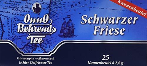 OnnO Behrends Tee Schwarzer Friese 25 TB, 6er Pack (6 x 70 g Packung)