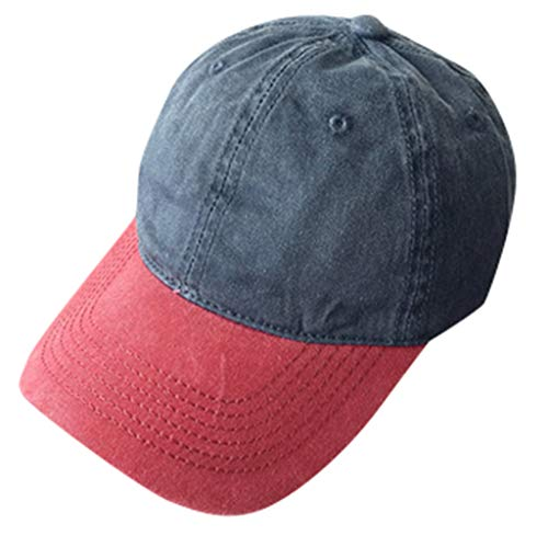 FRAUIT Damen/Herren Mode Baseball Cap Einstellbare Baseball Mützen Kappe Zweifarbig Baumwollkappe Stern Strass Cap