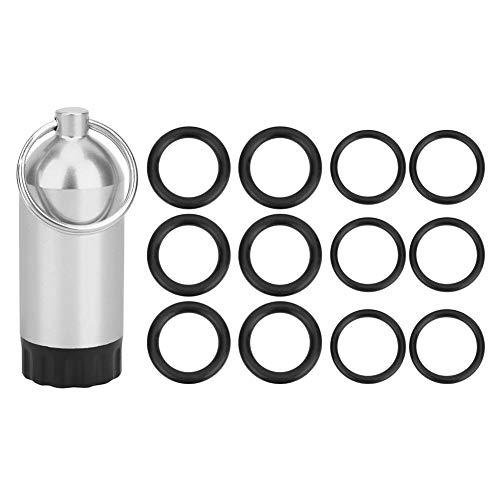 XiangXin O-Ring per bombole da Immersione, con 12 O-Ring Bombola per bombole da Immersione, 3 Colori Mini sigillatura 5,8 x 2,2 cm Lega di Alluminio per valvole a Cilindro Nuoto(Silver)