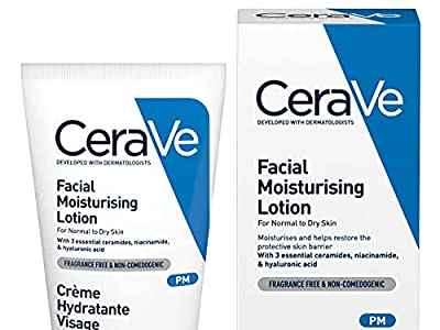 CeraVe PM Facial Moisturising Lotion| 52ml/1.75oz | Day & Night Facial Moisturiser with Hyaluronic Acid from Cerave