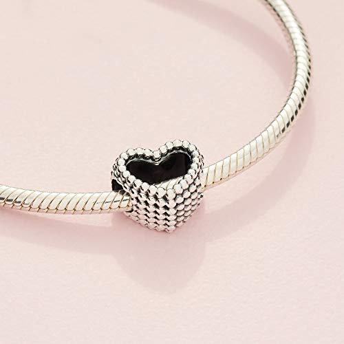Jewelry Beaded Heart Sterling Silver Charm