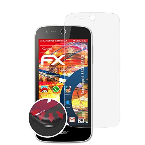 atFolix Schutzfolie kompatibel mit Acer Liquid Z330/M330 Folie, entspiegelnde & Flexible FX Bildschirmschutzfolie (3X)