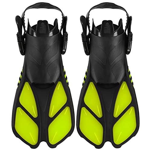 Eosnow Aletas de Buceo de talón Abierto, diseño Convexo Aletas de natación Aletas de natación Antideslizantes Aletas de Buceo largas para Piscina de Buceo Natación y esnórquel(MD)