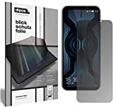 dipos I Sichtschutz-Folie matt kompatibel mit Xiaomi Black Shark 2 Pro Blickschutzfolie Bildschirm-Schutzfolie Privacy-Filter (bewusst Kleiner als das Glas, da Dieses gewölbt ist)