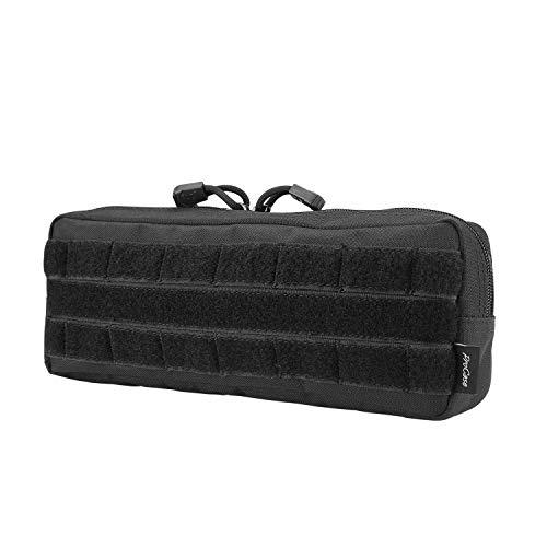 ProCase Pochette Tactique Molle Militaire Homme EDC, Petit Sac Portable Multifonctionnel Léger et Robuste-Noir-Petit