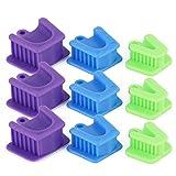 9PCS Dental Bite Blocks, Oral Silicone Mouth Prop Cheek Retrackors (3Pcs/Set, 3Sets/Pack)