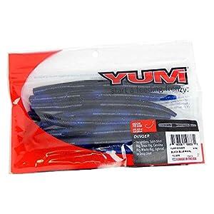 """Yum Lures YDG578 Dinger Fishing Bait, Black Blue Swirl, 5"""""""