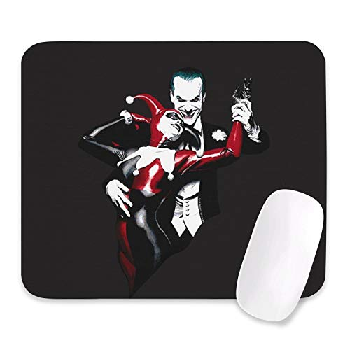 Joker and Harley Quinn Dance DC Comics Harley Quinn Gaming Mouse Pad Non-Slip Ideal for Desk Cover PC Laptop Mouse Mat Mouse Pads