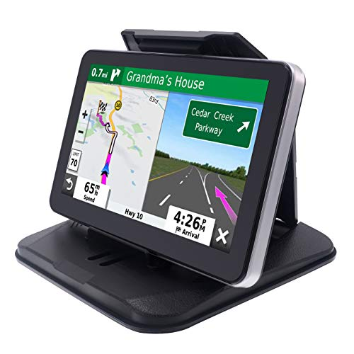 """iSaddle Dashboard GPS Mount Holder - Universal Dashbaord Phone Tablet PC Navigation Holder for Garmin Nuvi Tomtom iPhone iPad Galaxy Yoga Android Fits 4.3""""-9.6"""" GPS & Smartphone Friction Mount Holder"""