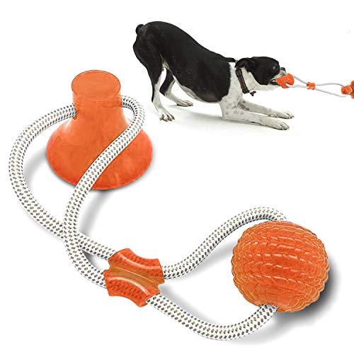 Nice Dream Hundespielzeug mit Saugnapf, Hund Molar Bite Spielzeug Saugnapf Hundespielzeug, Hundespielzeug für kleine bis große Hunde und Welpen(Orange)