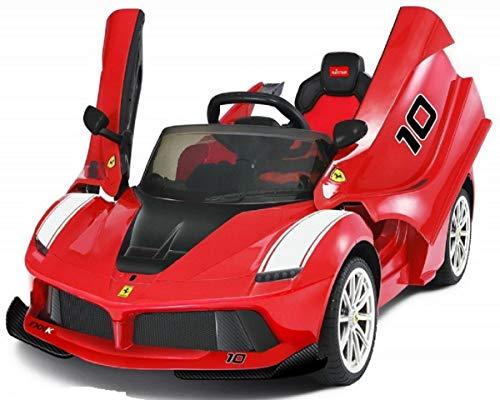 MINICARS La Ferrari FXXK Rouge 122 cm Voiture électrique Enfants