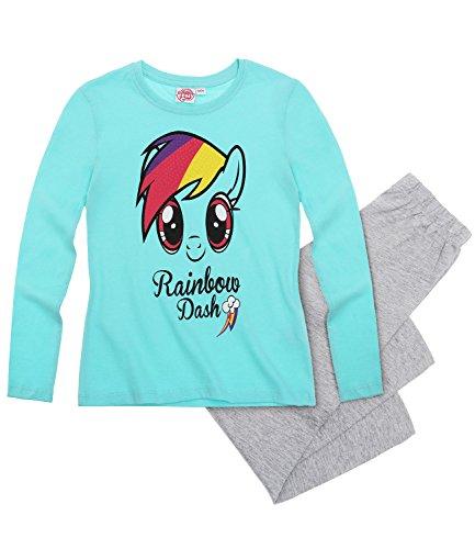 My Little Pony Pijama de manga larga con licencia oficial para niños y niñas de 2 a 10 años