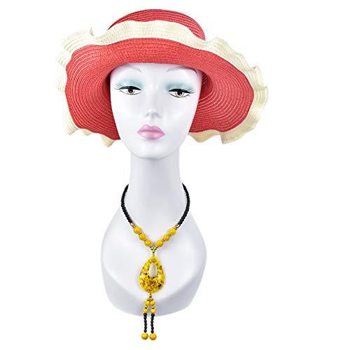 LYHD Femme Tête de Mannequin 3D Réaliste Beauté Tête Moule Stand Mannequin Tête Perruque Chapeau Chapeau Lunettes Écharpe Affichage Exposition