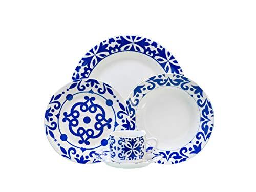 Vajilla de porcelana de 6 servicios 30 piezas, con un diseño elegante para su mesa. Bengoa gourmet Tools
