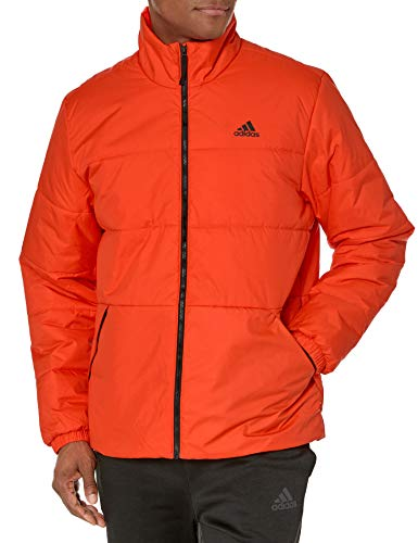 adidas Herren Basic 3-Streifen Isolierte Jacke, Herren, Jacke, Basic 3-stripes Insulated Jacket, Active Orange, Small