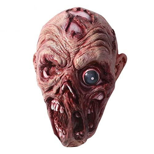 BAJIE Máscara de Halloween Mascarilla de Silicona aterradora Máscara de Terror...