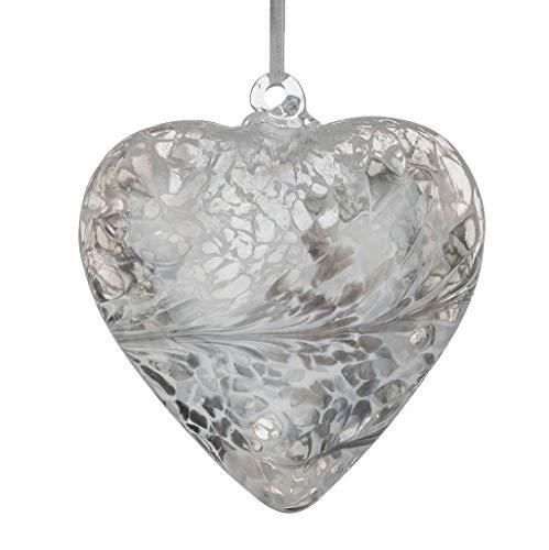 Sienna Glass HR8PASTELSI Pastel Silver Friendship Heart, 8 cm
