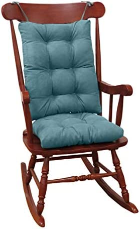 Best Klear Vu Twillo Overstuffed Rocking Chair Set, Seat and Seatback Cushions, 17 x 17 x 3 inches, Marin