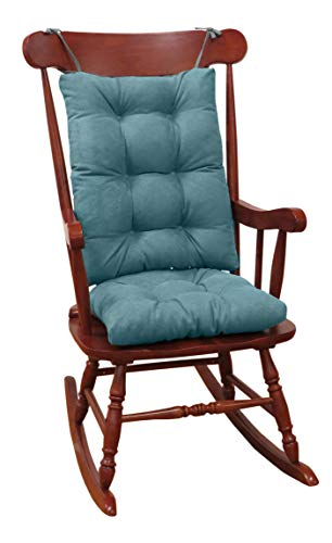 Klear Vu Twillo Overstuffed Rocking Chair Set, Seat and Seatback Cushions, 17 x 17 x 3 inches, Marine